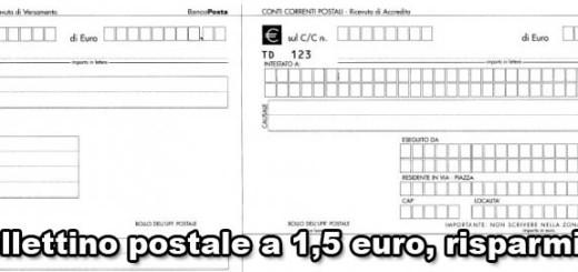 bollettino postale costi
